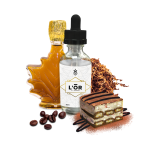 L'OR - 60ml Full Glass Bottle (&Coffee wo Background)